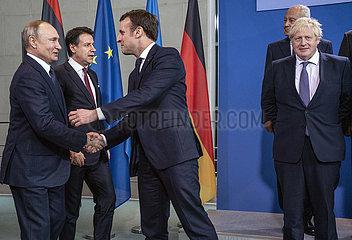 Putin + Conte + Macron + Aboulgheit + Johnson