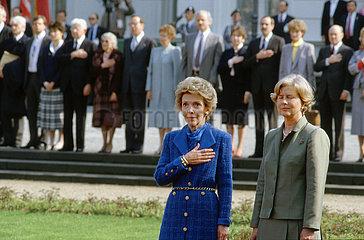 Nancy Reagan  Marianne von Weizsaecker  Bonn  1985