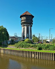 Ehemaliger Bahn-Wasserturm am Oldenburger Hafen | Former railway water tower at the port of Oldenburg