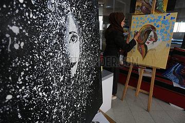 MIDEAST-GAZA-Künstlerin MIDEAST-GAZA-Artistin