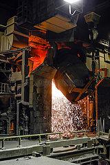 Stahlwerk  HKM Huettenwerke Krupp Mannesmann  Ruhrgebiet  Nordrhein-Westfalen  Deutschland