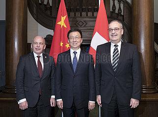 SCHWEIZ-CHINA-HAN ZHENG-VISIT