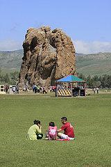 Taikhaar chuluu Felsen in der Mongolei