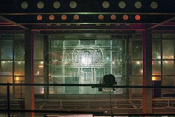 Volkspalast im Palast der Republik  Videoprojektion