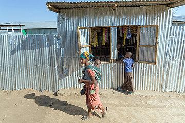 Adama  Oromiyaa  Aethiopien - Fluechtlingslager  Binnenfluechtlinge aus der Somali Region
