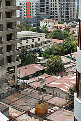 Addis Abeba  Aethiopien - Bauarbeiten in der Innenstadt