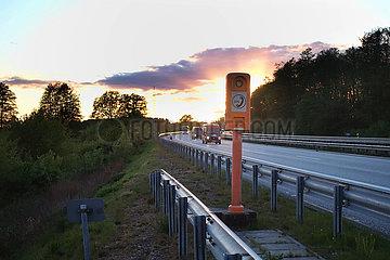Hamburg  Deutschland  Notrufsaeule an der A24