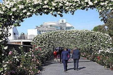 Melbourne  Entrance to Flemington racecourse