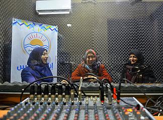 MIDEAST-GAZA-RADIO STATION-Sehbehinderten