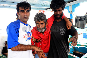 INDONESIEN-WEST ACEH-IRANIAN SHIP-stranded