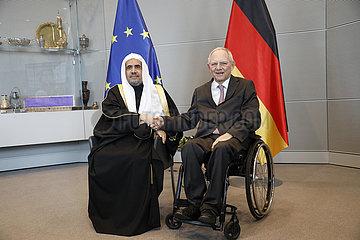 Empfang des Generalsekretaers der Islamischen Weltliga durch den Bundestagspraesidenten  Bundestag