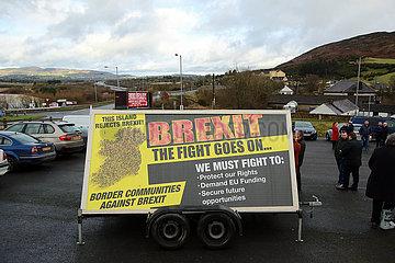 UK-NORTHERN IRELAND-JONESBOROUGH-BREXIT