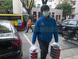 CHINA-HUBEI-WUHAN-TAKEAWAY deliveryman (CN) CHINA-HUBEI-WUHAN-TAKEAWAY deliveryman (CN) CHINA-HUBEI-WUHAN-TAKEAWAY deliveryman (CN)