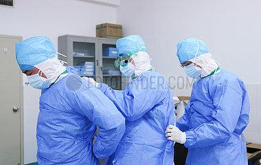 CHINA-FUJIAN-CORONAVIRUS-HOSPITAL-MEDICAL WORKERS (CN)