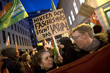 Demonstration against FDP and AfD  Thuringia election