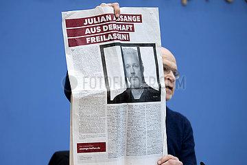 Guenter Wallraff  Assange Solidarity