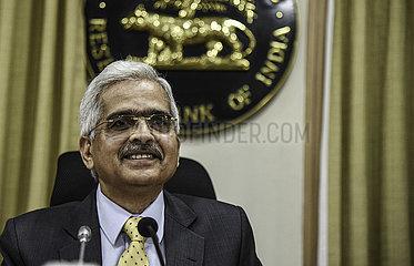 INDIEN-MUMBAI-RBI-PRESSEKONFERENZ