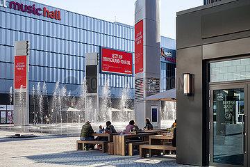 Neu eroeffneter Mercedes-Platz in Berlin-Friedrichshain
