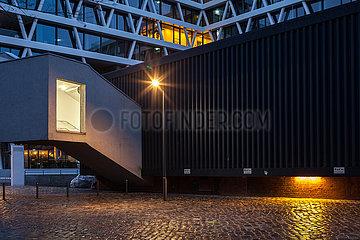 Erweiterungsbau Hamburger Bahnhofin der Europa-City in der Heidestrasse in Berlin-Moabit