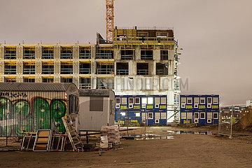 Neubau von Wohnungen in der Europa-City in der Heidestrasse in Berlin-Moabit