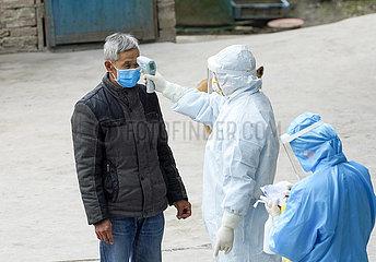(FOCUS) CHINA-CHONGQING-NOVEL CORONAVIRUS-EPIDEMIC-Land-Gesundheitsfürsorger (CN)
