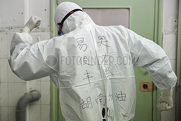 (FOCUS) CHINA-HUNAN-Krankenpfleger-NOVEL CORONAVIRUS-EPIDEMIC (CN)