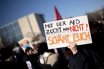 Demonstration against Right-Wing. Thuringia election