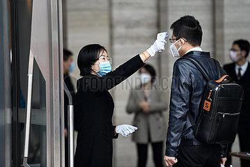 CHINA-Rückkehr an den Arbeitsplatz-AMID CORONAVIRUS KONTROLLE (CN)