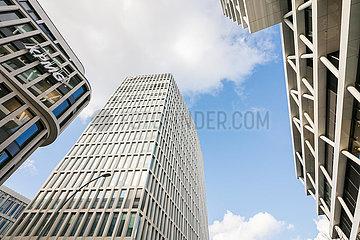 Fassaden von Buerogebaeuden in der Europa-City in der Heidestrasse in Berlin-Moabit