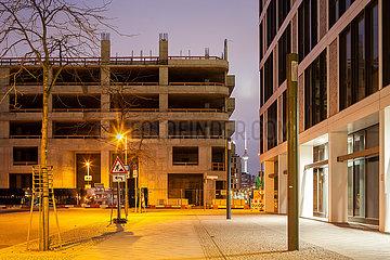 Bauvorhaben Max und Moritz an der Mercedes-Benz Arena in der Mariane-von-Rantzau-Strasse in Berlin-Friedrichshain