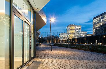 Buerogebaeude in der Europa-City Am Hamburger Bahnhof in Berlin-Moabit