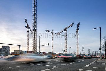 Baustelle fuer das Quartier Heidestrasse in der Europa-City in der Heidestrasse in Berlin-Moabit