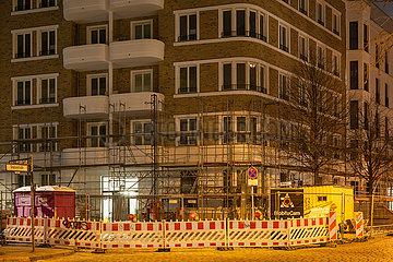 Neubau von Wohngebaeude in der Simplonstrasse Ecke Doeringstrasse in Berlin-Friedrichshain