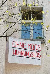 Berlin  Deutschland  Protest gegen Mieterhoehung im Stadtbezirk Friedrichshain-Kreuzberg