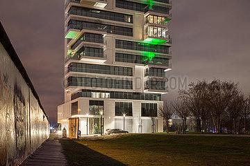 Living Levels Projekt auf dem ehemaligen Mauerstreifen in der Muehlenstrasse in Berlin-Friedrichshain