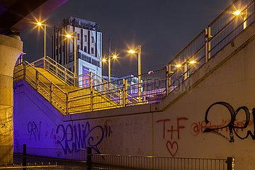 An der Warschauer Bruecke in Berlin-Friedrichshain