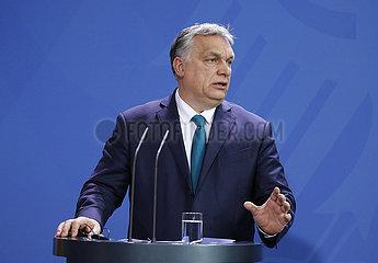 Bundeskanzleramt - Treffen Merkel Orban
