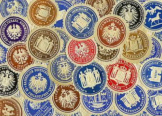 historische Dienstsiegel  Papiersiegel  1890