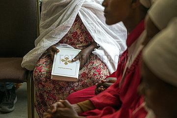 Adama  Oromiyaa  Aethiopien - Gottesdienst in der Nazareth Mekane Yesus Congregation