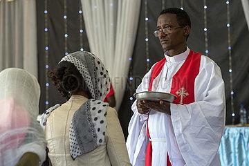 Adama  Oromiyaa  Aethiopien - Abendmahlgottesdienst in der Nazareth Mekane Yesus Congregation