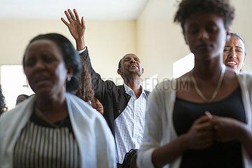 Adama  Oromiyaa  Aethiopien - Nazareth Mekane Yesus Congregation  Gottesdienst