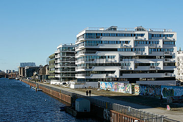 Berlin  Deutschland - Neubauprojekt WAVE am Osthafen in Berlin-Friedrichshain.