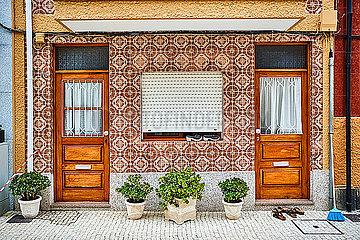 Portugal  Porto  Afurada  Unique house facade seen during daytime