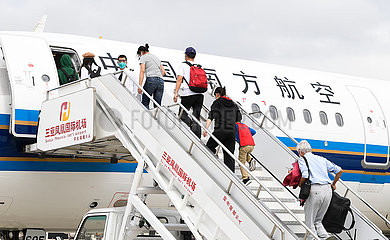 CHINA-HAINAN-SANYA-NCP-HUBEI TOURISTS-RETURN (CN)
