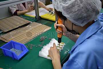 CHINA-TIANJIN-NCP-infrared FRONTALER thermometer PRODUCTION (CN)