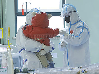 CHINA-HUBEI-WUHAN-NCP-Schätzchenpatient-CURED (CN)