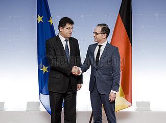 BM Maas trifft Janez Lenarcic