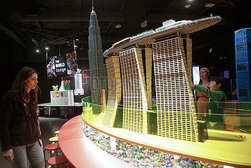 CANADA-VANCOUVER-EXHIBITION-TOWERS OF TOMORROW WITH LEGO BRICKS