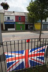Grossbritannien  Belfast - Union Jack  Newtownards Road  Protestantischer Teil von East Belfast