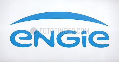 engie  Logo am Messestand auf der Messe E-world energy & water  Essen  Nordrhein-Westfalen  Deutschland  Europa